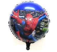 2pcs /lot Avnegers Round Spiderman Foil Balloon Children's Toys Helium Balloons china party decorations(China)