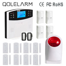 QOLELARM Wireless GSM Alarm Systems Security Home Polish Spanish French Germany Czech Anti-pet Infrared Detector Door Sensor(China)