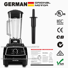 100% GERMAN Motor Technology 3HP 2200W BPA FREE 2L juicer Blender ice smoothie & juicer food processor Commercial Blender