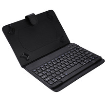 10 inch PU Holster Bluetooth Keyboard For Smartphone Laptop Tablet Stand by iOS /Apple/ Android / Windows System