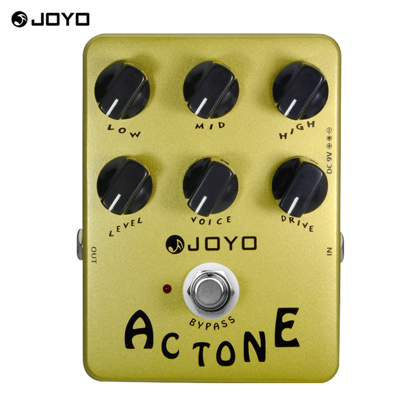 JOYO JF-13 AC Tone Vox Amp Simulator Guitar Effect Pedal Guitarra Parts True Bypass for Musical Instrument Electronic<br>