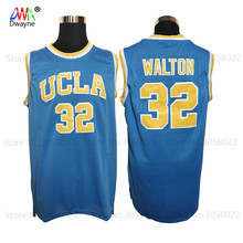 2017 Mens Cheap Basketball Throwback Bill Walton Jerseys #32 UCLA College Basketball Jersey Blue Vintage Stitched Shirts Center(China)