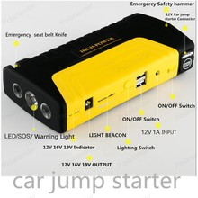 jump starter 12v Car power bank mobile portable charger car rechargeable engine starting device booster battery starter hammer(China)