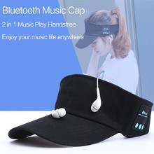 New Wireless Bluetooth Earphones Music Stereo Baseball Cap Outdoor Sport Sun Hat Handsfree with Mic Headphones for Iphone Xiaomi