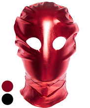 Patent Leather Hood Mask Headgear In Adult Games For Couples,Bondage Slave Fetish Sex Flirting Toys For Women And Men