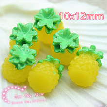 3D ananas fruit resin crafts for charm decoration 50pcs/lot