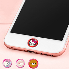 Hot Cute Bear Cat Cartoon Mobile Phone Screen Touch ID Home button Sticker Key Covers Film for Apple IPhone 5 7 5s 6 6s plus Se(China)