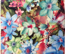 150cm wide floral motif printed single jersey fabric,unfleece finishing,soft and tender touch,XERY-A1037(China)