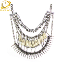 Brand Of Leveling Design Fashion Necklace For Women New Jewelry Statement Necklace Cheap Price Wholesale Choker Necklace 2015(China)