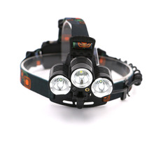 Portable 3 LED Headlamps T6 + 2*R2 Head Lamp Light 4 Modes for Bicycle Riding Hight Power LED Headlamp +AC/Car Charger
