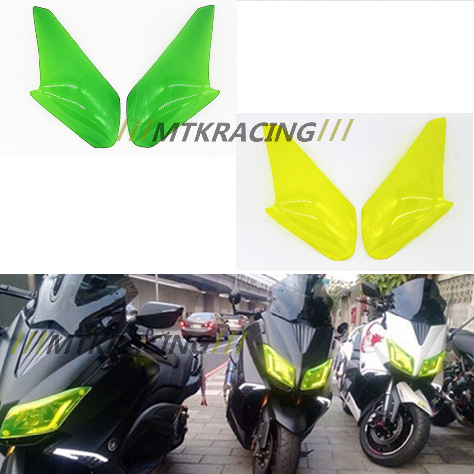 MTKRACING High Quality Motorbikes ABS Headlight Protector Cover Screen Lens For Yamaha Tmax 530 2012-2014 TMAX530 2015-2016<br>