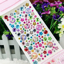 CXZYKING 5PcsCartoon DIY Toy Diamond Stickers Mobile Phone Crystal Stickers For Children's Cartoon Stickers Computer Decoration