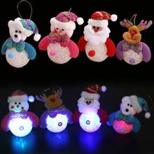 Lovely Luminous Ornaments Light Santa Claus/Snowman/Bear/Elk Deer Doll Toy Home Tree Christmas Decoration ALI88