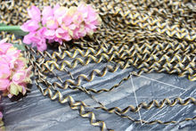 Spicypopo zig-zag 50 yards 5MM Rick Rack/ RIC RAC Sewing Craft narrow zigzag trimming clothing curtains black gold cream