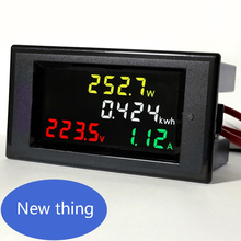 New thing  AC80.0-300.0V ,AC0-99.99A Colorful display and measure AC current , voltage , Active Watt and kWh energy value