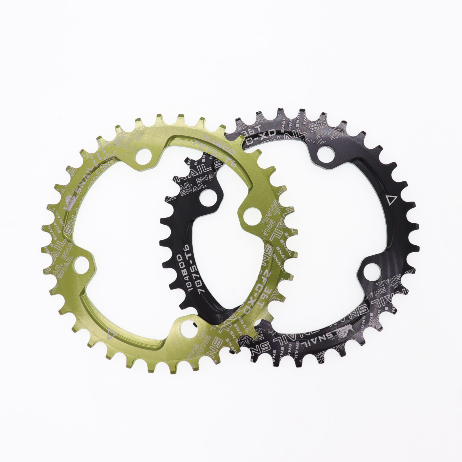 SNAIL 32-42t BCD104 Narrow Wide Round//Oval MTB BMX Bike Crankset Chainring ring