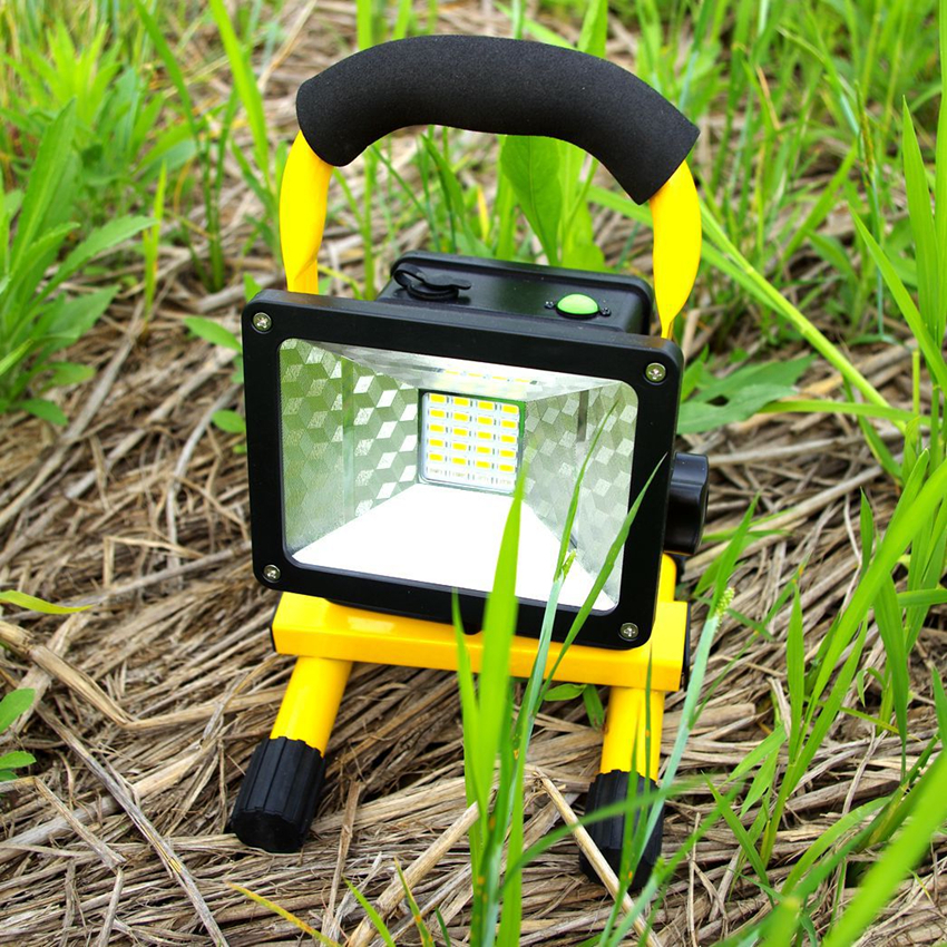 Brightness Waterproof IP65 30W 24LED 3 Modes LED Floodlight Portable SpotLights Rechargeable Outdoor LED Work Emergency light<br><br>Aliexpress