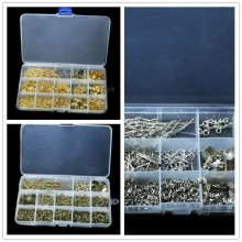 Box Set Beads Kit Jump Rings/Clasps/Pins Caps Beads For Jewelry Making Necklace DIY Jewelry Findings Accessories