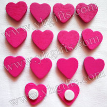 1000PCS/LOT.Rose heart sticker,Home decoration,Wood crafts.Kids toys Wedding decoration.Valentine's day ornament.1.8cm.Wholesale