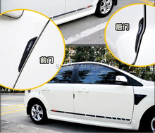 Set Automobiles Auto Door Side Edge Protection Guards Car Stickers Carbon Fiber Film Cover Exterior Accessories Motorcycle