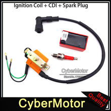 Racing Ignition Coil A7TC Spark Plug AC CDI Box For 50cc 70cc 90cc 110cc Engine Chinese ATV Quad 4 Wheeler Pit Dirt Motor Bike