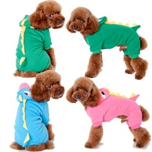 20pcs/lot Puppy Dog Pet Halloween Dinosaur Costume Coat Outfits Jumper Apparel Clothes Free Shipping WA1208