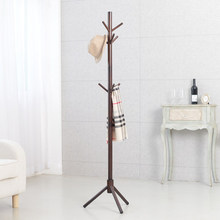 Modern Classic Solid Wood Living Room Coat Rack Display Stands Scarves Hats Bags Clothes Shelf