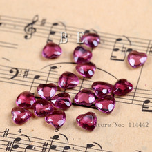 2000pcs/lot 6mm ( 1 Carat ) Acrylic Burgundy Heart Crystals Table Scatter Heart  Tip Back Confetti wedding Valentine Decoration