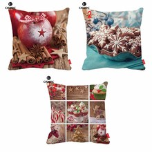 Christmas Eve Gift Apple Snow Cookies Print Car Decorative Pillowcase Cushion Cover Sofa Home Decor()