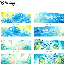 Dreamlike The Underwater World Series Nail Stickers Water Transfer Sticker Nail Art Decorate Fingernails Nail Beauty