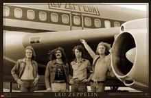 2014 Hot Sale Led Zeppelin (Airplane) Music Poster Prints high qualiot ty picture nice movie style custom poster 50x75cm(China)