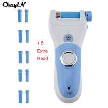 Electric Exfoliator Pedicure Rechargeable Foot Care Tool + 12 Roller Peeling Dead Skin Removal Feet Care Machine Callus Remover(China)