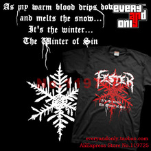 Fester Black Death Metal Band Winter Of Sin Tee T-shirt Cloth Norway(China)