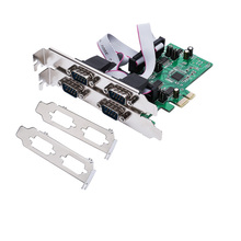 IOCrest 4 Port Serial Convert Card RS232 DB9 COM Adapter PCI-Express X1 Host Controller w/ Low Profile Bracket