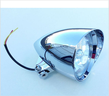 Chrome Silver Bullet Motorcycle Head Light Headlight for Harley Davidson Chopper