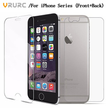 Vrurc 2PCS Front+Back Tempered Glass For iPhone 4 4s i6 i6s glass i6plus i6s plus i7 glass i7 plus Screen Protector (China)