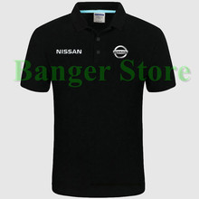 Nissan logo Polo shirt 4S shop short sleeved polo shirt overalls women and mens