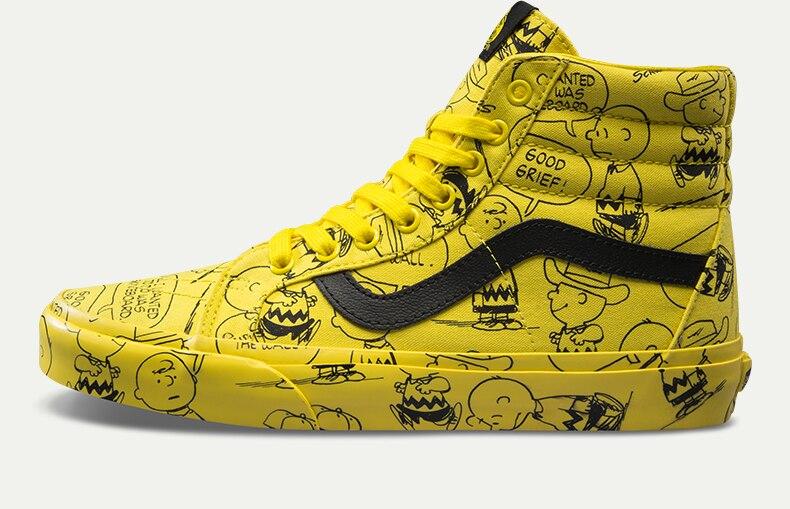 vans snoopy yellow