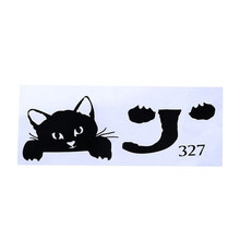 10pcs  6.7*2.76 inch  Kitty Cat wall Switch Stickers Cartoon Decor Decals Children Baby Nursery Room light Sticker Paper Decor