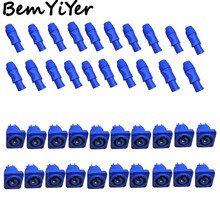 20 set/LOT camlock blue connectors/male+female for led stage lighting/beam equipment