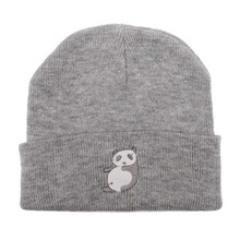 Fashion Style Hat Ladies Spring and Autumn Knitted Warm Hat Lovely Animal Panda Embroidery Beanies Cap Men's Winter Hat Gorro(China)