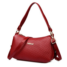 HOT!! Women Handbags Special Offer PU Leather Bags Women Solid Messenger Bags Vintage Crossbody Shoulder Bags Burgundy lf833(China)