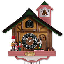 Fashion House Shape wall clock, rustic cuckoo clock,photoswitchable music bell time clock and watch-free shipping by EMS(China)