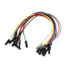 10PCS 20CM Female to Female 1 Pin Plug Jumper Cable Wires Multicolor