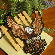Large eagle embroidery badge Decal repair patch cowboy Harley ironing cloth paste Ding iron on patches applique scrapbooking