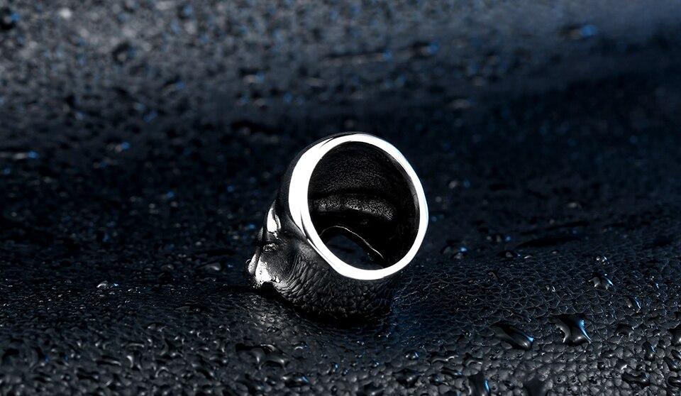 แหวนโคตรเท่ห์ Code 012 แหวน Punisher สแตนเลส 4