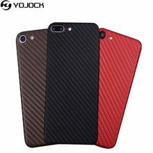 Phone Sticker Case for iPhone 7 7 plus 3D Carbon Fiber Full Body Back Film Wrap Skin Sticker Phone Shell for iPhone 5 6 6s plus(China)
