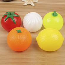1pc Anti Stress Face Reliever Bun Fruit Plush Squishy Squeeze Practical Gags Jokes Toys Funny Tricky Vent Toys P15(China)