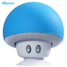 Washion Cute Mushroom Bluetooth Speakers Wireless Mini Portable With Microphone Stereo Loudspeaker For iPhone Samsung Xiaomi(China)