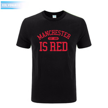 2017 Summer Dress New United Kingdom Manchester Print T Shirt Tracksuit For Men Cotton O-Neck T-Shirts men's Tshirts Park Tops